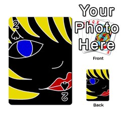 Blond girl Playing Cards 54 Designs
