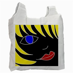 Blond girl Recycle Bag (Two Side)