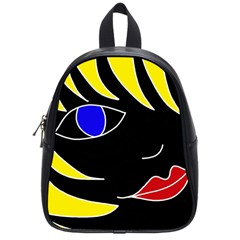 Blond girl School Bags (Small)
