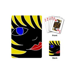 Blond girl Playing Cards (Mini)