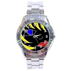 Blond girl Stainless Steel Analogue Watch