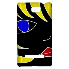Blond girl HTC 8S Hardshell Case
