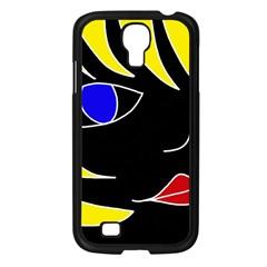 Blond girl Samsung Galaxy S4 I9500/ I9505 Case (Black)