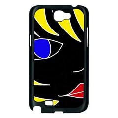 Blond girl Samsung Galaxy Note 2 Case (Black)