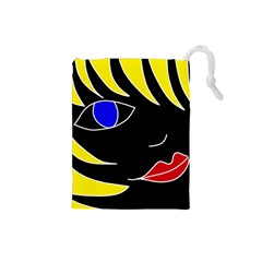 Blond girl Drawstring Pouches (Small)