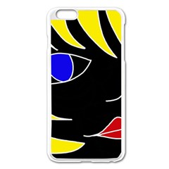 Blond girl Apple iPhone 6 Plus/6S Plus Enamel White Case