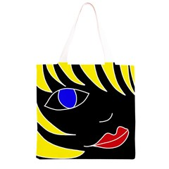Blond girl Grocery Light Tote Bag