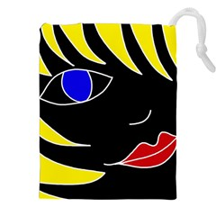 Blond girl Drawstring Pouches (XXL)