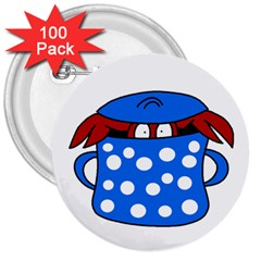 Cooking lobster 3  Buttons (100 pack)