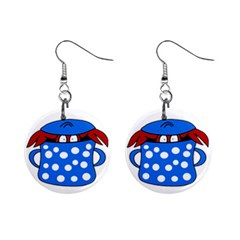 Cooking lobster Mini Button Earrings