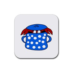 Cooking lobster Rubber Coaster (Square)