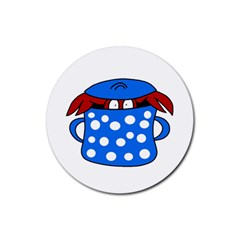 Cooking lobster Rubber Coaster (Round)