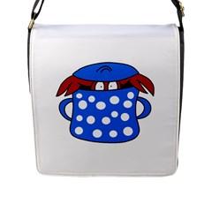 Cooking lobster Flap Messenger Bag (L)