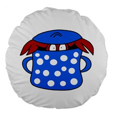Cooking lobster Large 18  Premium Flano Round Cushions