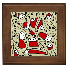 Playful abstraction Framed Tiles