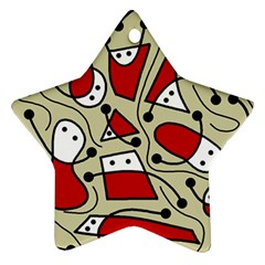 Playful abstraction Ornament (Star)