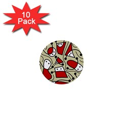 Playful abstraction 1  Mini Buttons (10 pack)
