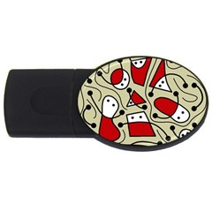 Playful abstraction USB Flash Drive Oval (1 GB)