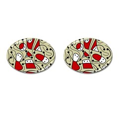 Playful abstraction Cufflinks (Oval)