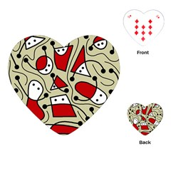 Playful abstraction Playing Cards (Heart)