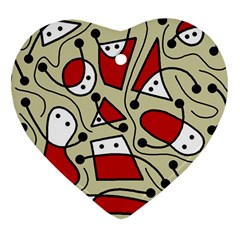 Playful abstraction Heart Ornament (2 Sides)