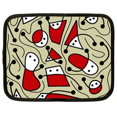 Playful abstraction Netbook Case (Large)