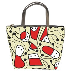 Playful abstraction Bucket Bags