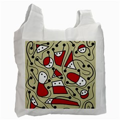 Playful abstraction Recycle Bag (Two Side)