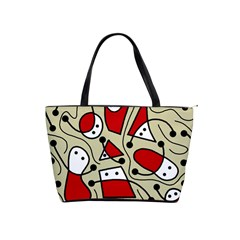Playful abstraction Shoulder Handbags