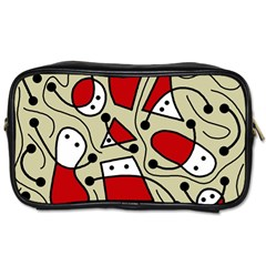 Playful abstraction Toiletries Bags