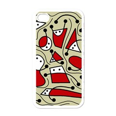 Playful abstraction Apple iPhone 4 Case (White)