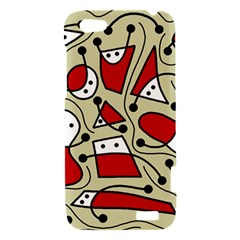 Playful abstraction HTC One V Hardshell Case