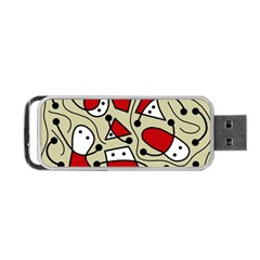 Playful abstraction Portable USB Flash (Two Sides)
