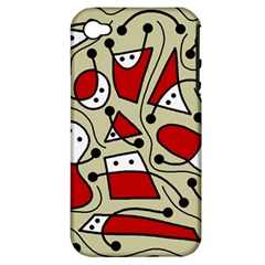 Playful abstraction Apple iPhone 4/4S Hardshell Case (PC+Silicone)