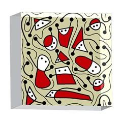 Playful abstraction 5  x 5  Acrylic Photo Blocks