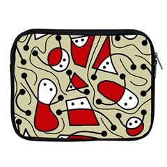 Playful abstraction Apple iPad 2/3/4 Zipper Cases