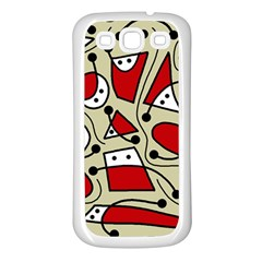 Playful abstraction Samsung Galaxy S3 Back Case (White)