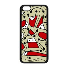 Playful abstraction Apple iPhone 5C Seamless Case (Black)