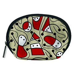 Playful abstraction Accessory Pouches (Medium)