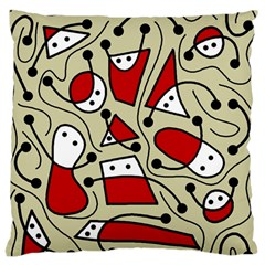 Playful abstraction Standard Flano Cushion Case (Two Sides)