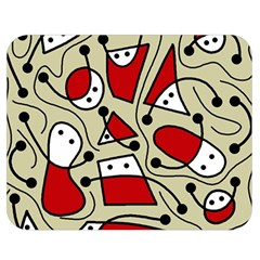 Playful abstraction Double Sided Flano Blanket (Medium)