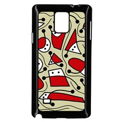 Playful abstraction Samsung Galaxy Note 4 Case (Black)