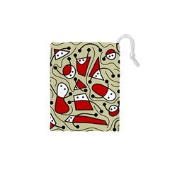 Playful abstraction Drawstring Pouches (XS)