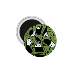 Playful abstract art - green 1.75  Magnets