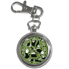 Playful abstract art - green Key Chain Watches