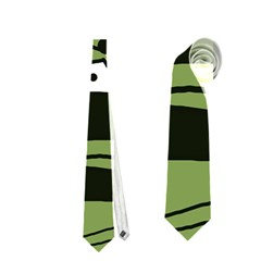 Playful abstract art - green Neckties (One Side)