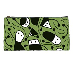 Playful abstract art - green Pencil Cases