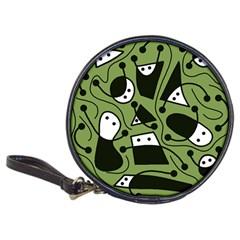 Playful abstract art - green Classic 20-CD Wallets