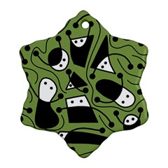 Playful abstract art - green Ornament (Snowflake)