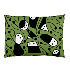 Playful abstract art - green Pillow Case (Two Sides)